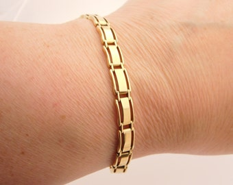 Ladies 14K Yellow Gold Bracelet 7 Inches