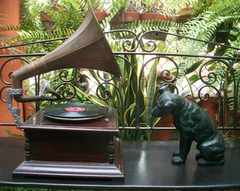1920s His Master's Voice HMV RCA JVC Victor Mascot Nipper Dog Sculpture