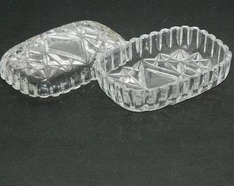 former soap holder.. .old SOAP holder. Vintage crystal. English vintage