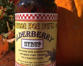 ELDERBERRY Infused honey - 12 oz