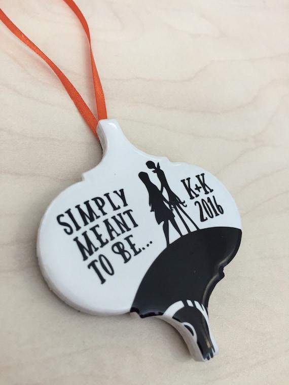 jack  sally custom ornament wedding anniversary