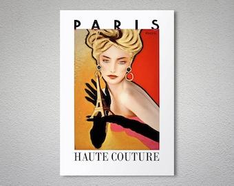 Paris Haute Couture - France - Fashion Poster - Poster Paper, Sticker or Canvas