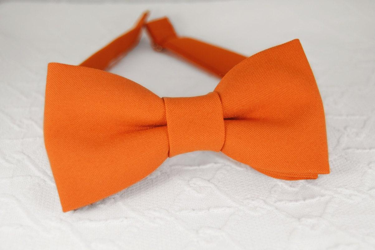 burnt orange bow tie orange bow tie grooms bow tie mens bow