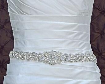 Wedding Belt, Bridal Belt, Sash Belt, Crystal Rhinestone Belt, Wedding Dress Sash, Style 2535