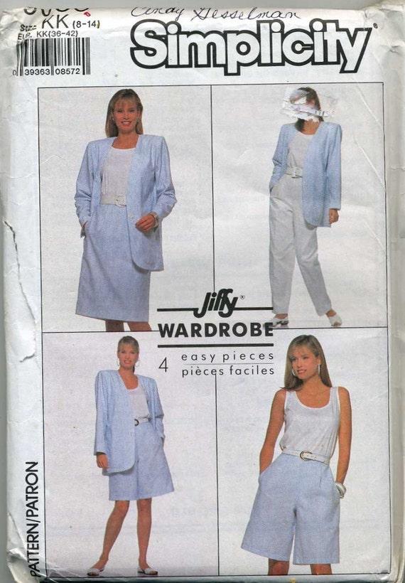 Pantalón falda caminando Shorts y chaqueta sin forro coser patrón ...