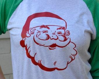 Vintage Santa 3/4-Sleeve Raglan
