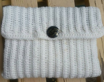 Crochet clutch purse. Evening purse. Cream colour.