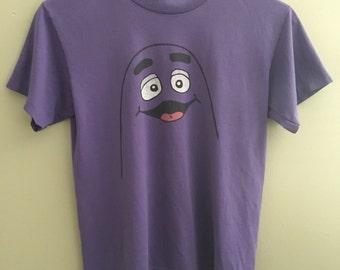 Vintage 70's/80's Rare Grimace Character Purple McDonald's T-Shirt