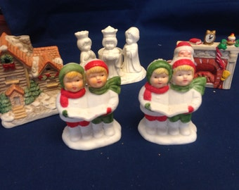 Christmas Candleholders - Lot of 5  Reminder of Christmases past