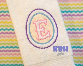 Embroidered Easter Hand Towel