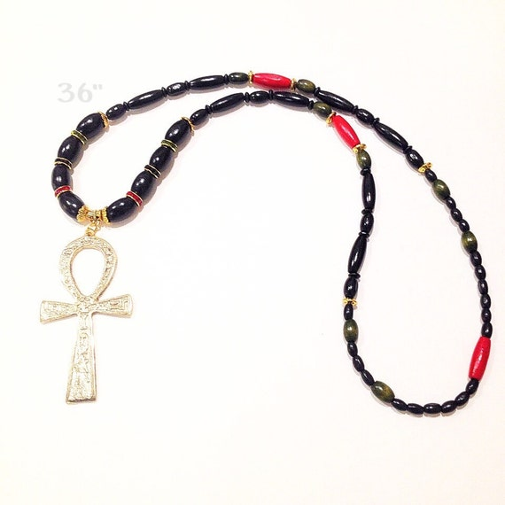 pan necklace mens ankh necklacewood ankh necklace