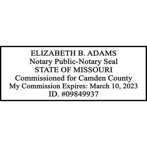 Missouri Custom Notary Stamp MO-NOTARY by CustomDesignsByJill