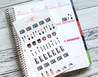 Makeup Item Planner Stickers - Matte or Glossy