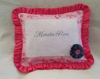 Custom Made Printed Name pillow