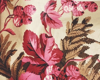 "Vintage fabric by Colefax & Fowler . 1983 cotton chintz ""Hops """