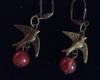 Birds and Berries Earrings