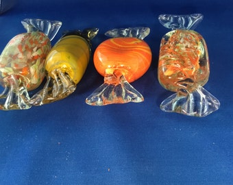 Large glass murano candies