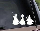 Sleeping Beauty Fairies - Flora, Fauna, Merryweather - Vinyl Car Decal - Window Decal - Laptop Decal - Vinyl Sticker