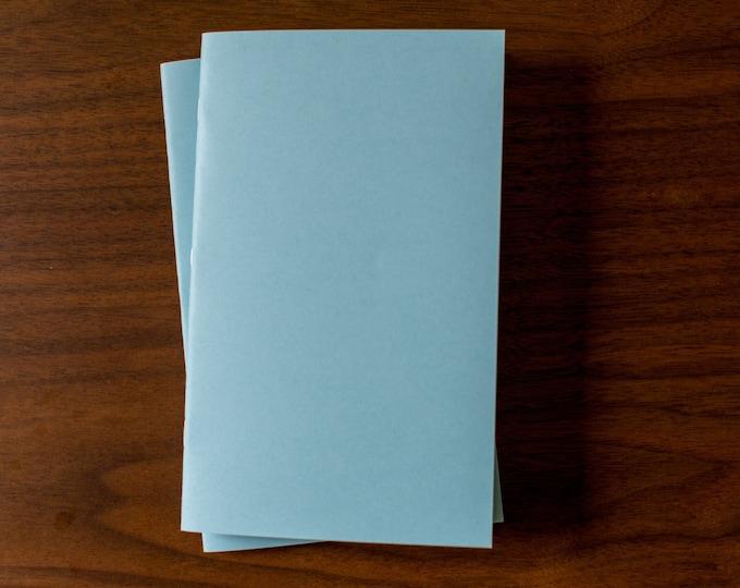 Light Blue Notebooks - 2 Pack Journal, Planner, Journal Insert, Planner Insert Mini Diaries, Jotters, Blank Books, Paper Notebook, bulk