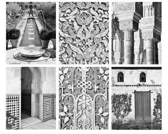 SALE, Alhambra, Print Set, Travel Photography, Spain, Europe, Fine Art Prints, Gallery Wall, Home Decor, Set of 6 prints