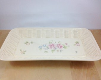 Pfaltzgraff Tea Rose Bread Plate,Vintage Pfaltzgraff,bread dish,serving tray