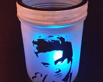 Elvis Lantern with color changing tealight