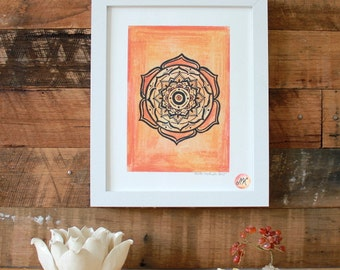 Sacral Chakra Mandala, Giclee Fine Art Print