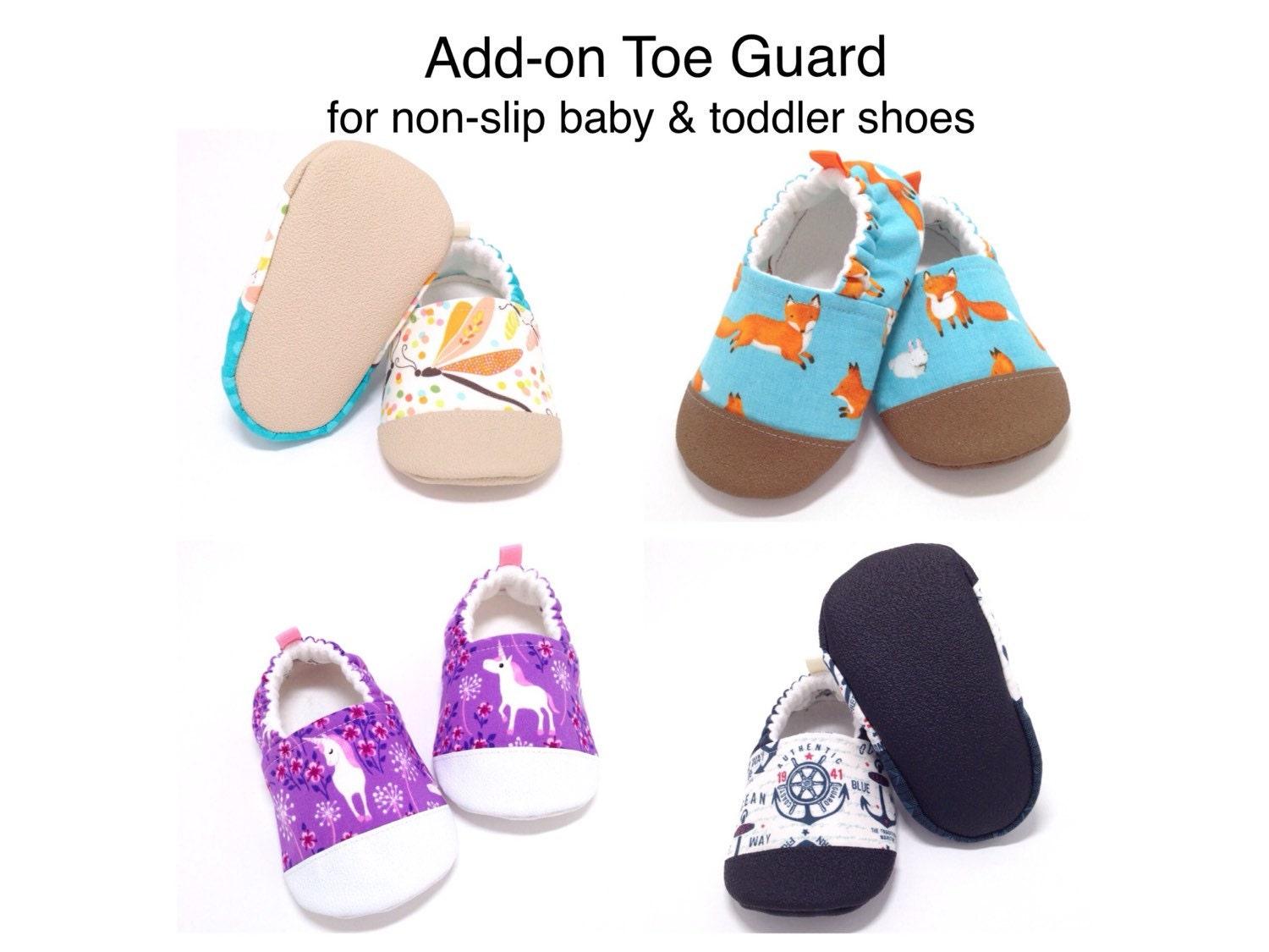 add on toe guard for non slip baby shoes toddler shoes