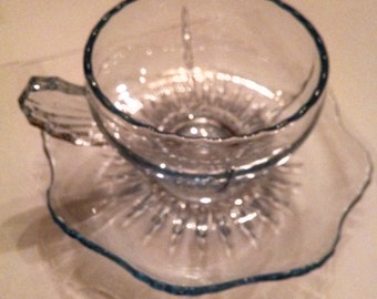 blue radiance cup and saucer