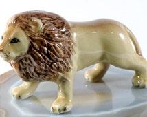 Lion - handpainted porcelain figurine, 1032