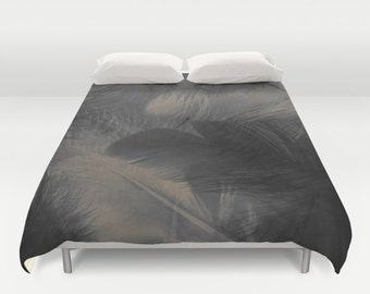 GREY FEATHERS  Duvet Cover Double/Full-Queen-King