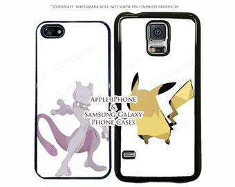 Pokemon Geometric Choose Your Pokemon Phone Case Cover for Samsung Galaxy S8, S8 Plus, S7, S7 Edge, S6, S5, LG G6, G5, Google Pixel XL, Note