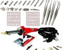 Wood Burning Pen, 40pc WoodBurning Set, Pyrography Tool, Leather Craft Drawing Woodburner Detailer Kit