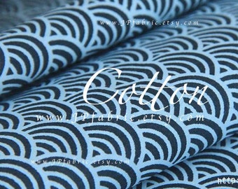 Japanese Seigaiha fabric. Wave fabric. Pure Cotton by the yard