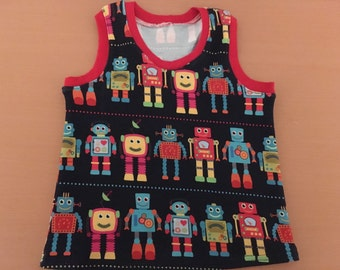 Kids racer back vest top, tank top, made to order, custom fit to your measurements