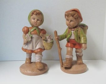 Vintage Ceramic Figurines Hand Painted by Marge Miller