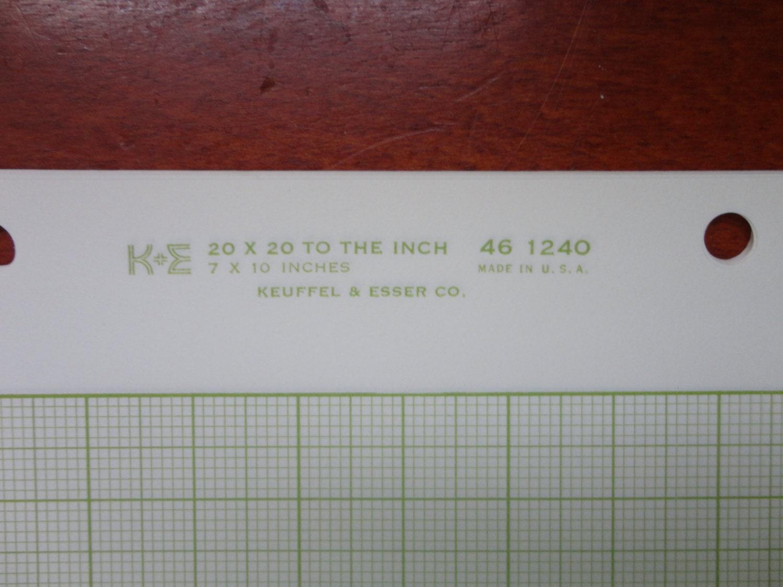 square grid cross section graph paper k  u0026 e 46 1240