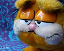 80's Toys ~ Vintage Garfield the Cat ~ Fat Sleepy Eyed ~ 1981 ~ Jim Davis ~ Lasagna Eating Cat ~ R. Dakin & Co. ~  Plushies ~ Stuffed Animal