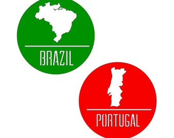 Stickers / Badges , Events , Parties , Portugal , Brazil , Italy , Mexico, France , Germany
