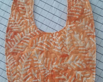 Orange & White Baby Bib