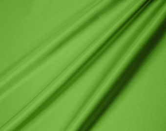 Shannon Fabrics Silky Satin Solid Lime 296 Remnant