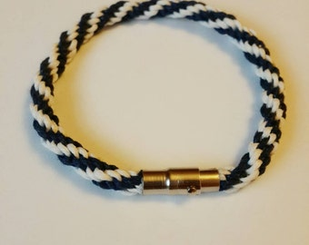 Kumihimo cord bracelet with magnetic clasp