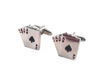 Playing Cards Casino Poker Cuff Links