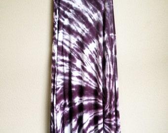 Tie Dye Maxi Skirt - Eggplant - Handmade - Michigan made - Hippie Skirt - Spiral Tie Dye