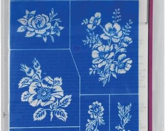 Floral Stencils-Rub n Etch Glass Stencils-Glass Etching-Etching Supplies-Jewelry Supllies