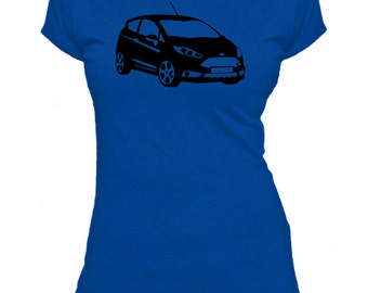 Ford Fiesta ST. Car.  Ladies fitted t-shirt.