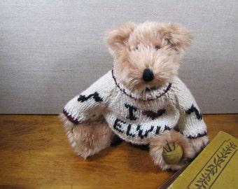 "Berkeley Designs Musical Bear - ""I Love Elvis"" Sweater"