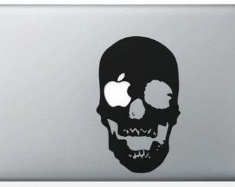 "Sticker ""Death's head"" for MacBook"