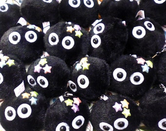 Soot Sprite/Dust Bunny Plush Phone Charm/Keyring