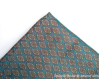 Brocade fabric with betel pattern in blue color, dress fabric, fancy fabric, wedding fabric, listing for half yard